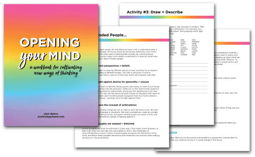 Opening Your Mind Workbook Pages